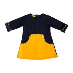 Robe Louisa Marine et jaune