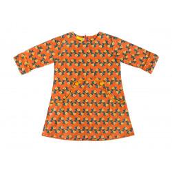 Robe Louisa Flores abricot