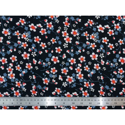 Tissu coton Akiko noir