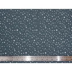 Tissu coton Grey Stars