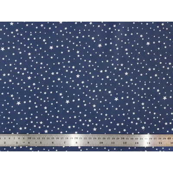 Tissu coton Navy stars