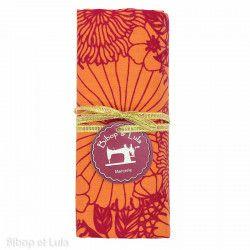 Coupon tissu coton Sunny Red