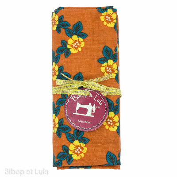 Coupon tissu Flores Abricot