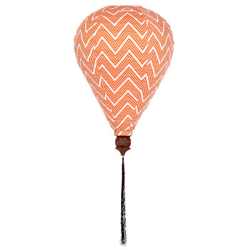 Lampion tissu montgolfière Zig Zag orange