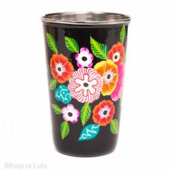 Grand verre inox peint à la main Kavali