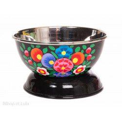 Bol inox peint à la main Korba black