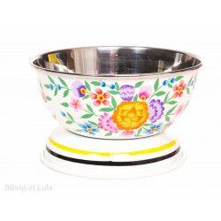 Bol inox peint à la main Suraya blanc