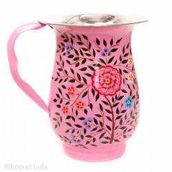 Carafe inox peinte à la main Bareli pink