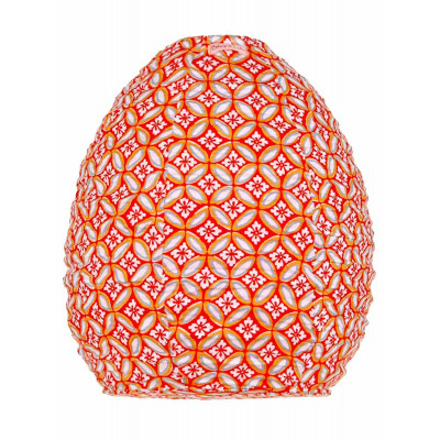 Lampion tissu ruche Azulejos orange