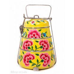 Lunch box inox peinte à la main Edira soleil