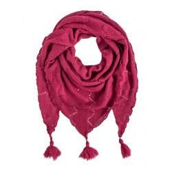 Echarpe triangle laine Rose magenta