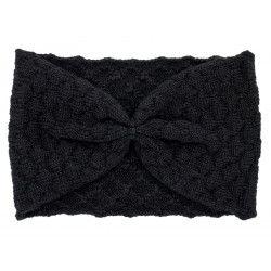 Bandeau headband rétro laine noir