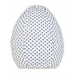 Lampion tissu ruche Pois gris