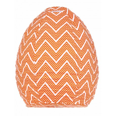 Lampion tissu ruche Zig zag orange