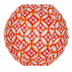 Lampion tissu mini rond Azulejos orange
