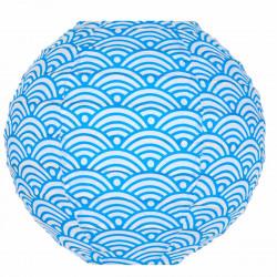 Mini lampion tissu Nami bleu