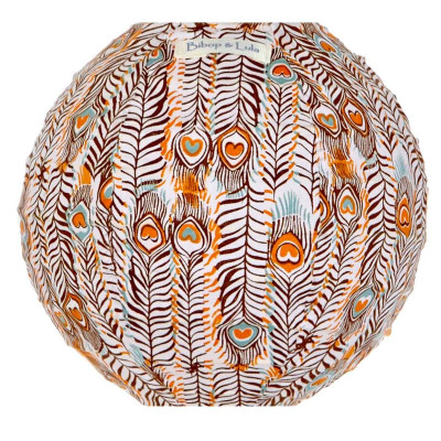 Lampion tissu mini rond Pikok orange