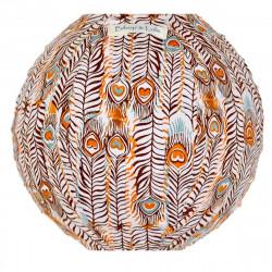 Lampion tissu mini rond Pikok orange
