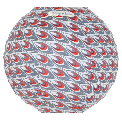 Lampion tissu mini rond Spoutnik orange