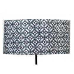 Abat jour cylindrique Azulejos gris