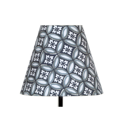 Abat jour empire Azulejos gris