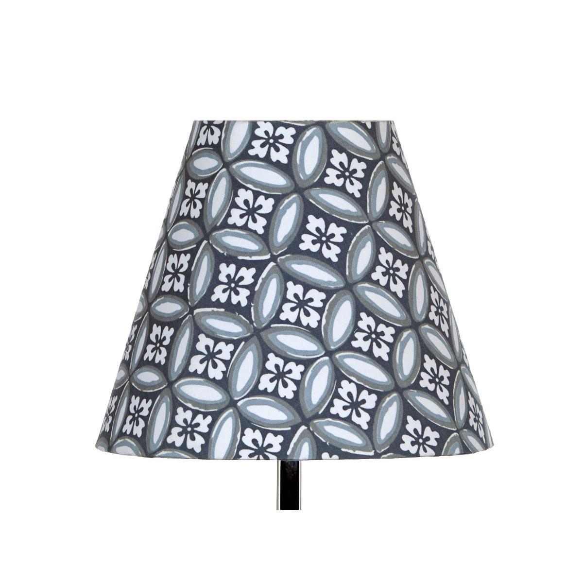 Abat jour lampe de chevet tissu gris