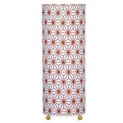 Lampe tube à poser tissu Asanoha bronze