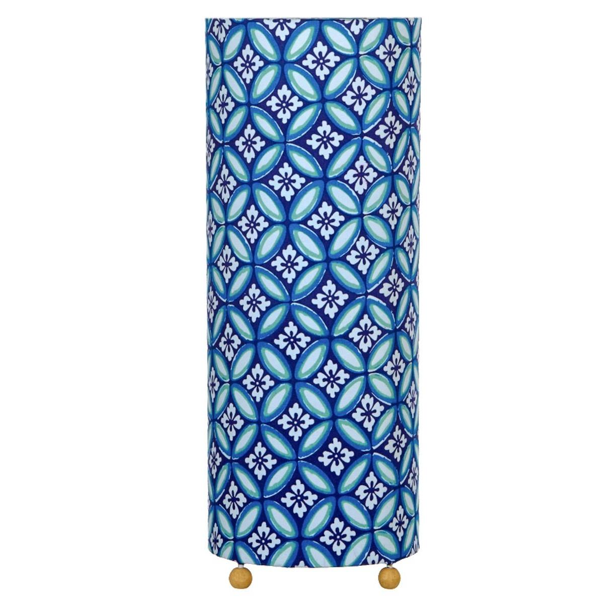 Lampe de chevet tissu Azulejos bleu