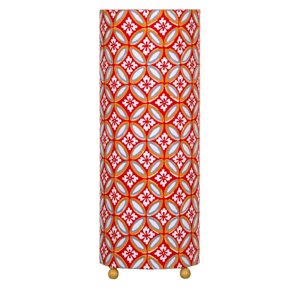 Lampe de chevet tissu Azulejos orange
